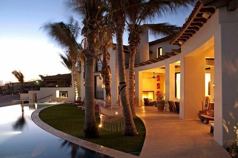 muebles de jardín hamacas estilo tropical ideas