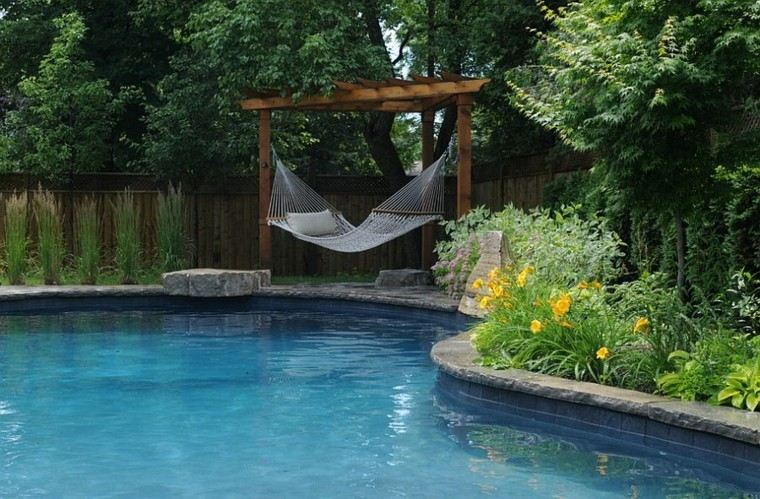 muebles de jardín hamacas manera perfecta descansar ideas