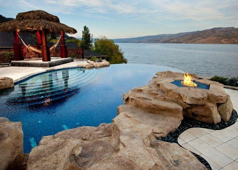 muebles de jardín hamacas pergola piscina ideas