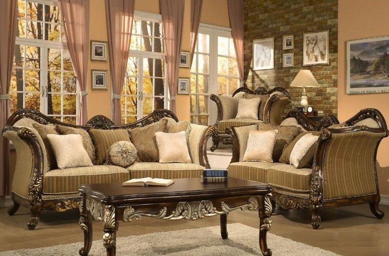 muebles de salón estilo victoriano clasico ideas bonitas