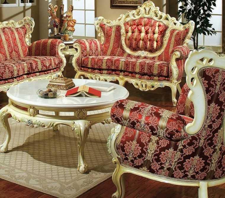 muebles de salón estilo victoriano madera blanca ideas