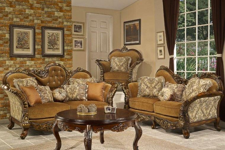 muebles de salón estilo victoriano mesa sofas ideas