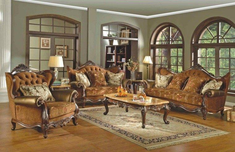 muebles de salón estilo victoriano sofa marron ideas