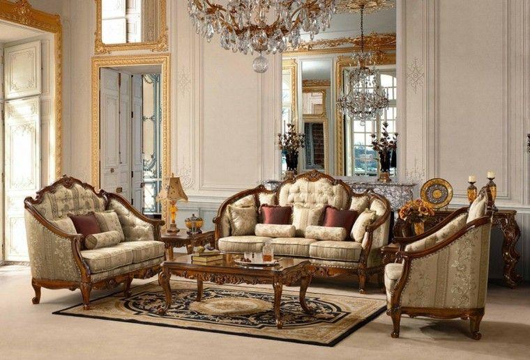 muebles de salón estilo victoriano sofas pequenas ideas