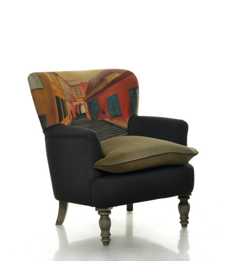 muebles diseno butaca estampa preciosa ideas