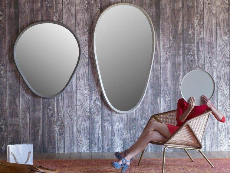 muebles diseno espejos preciosos distintas formas ideas