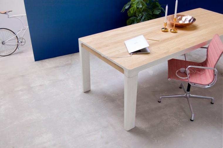 muebles diseno mesa grande madera elegante ideas