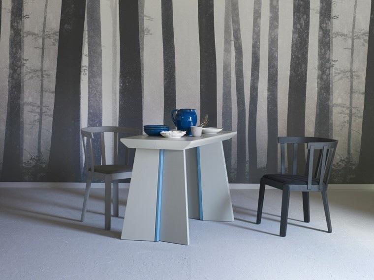 muebles diseño mesa sillas comedor moderno ideas