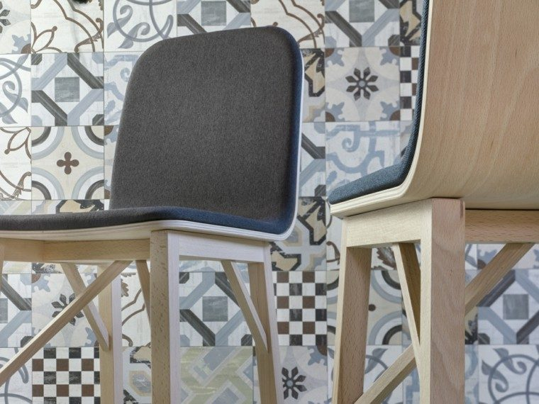 muebles diseño sillas madera modernas ideas