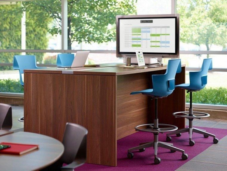 muebles diseño sillas modernas color azul ideas