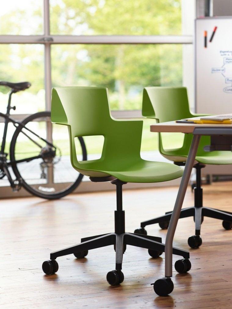 muebles diseño sillas modernas color verde ideas