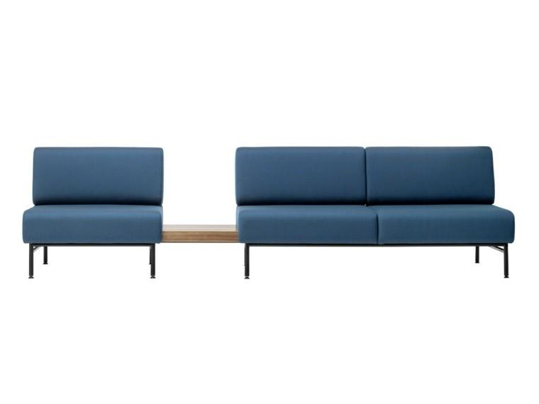 muebles diseño sofa azul butaca modernas ideas