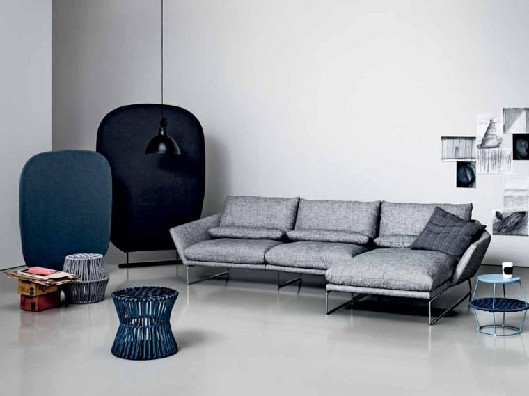 muebles diseno sofa preciosa color gris ideas