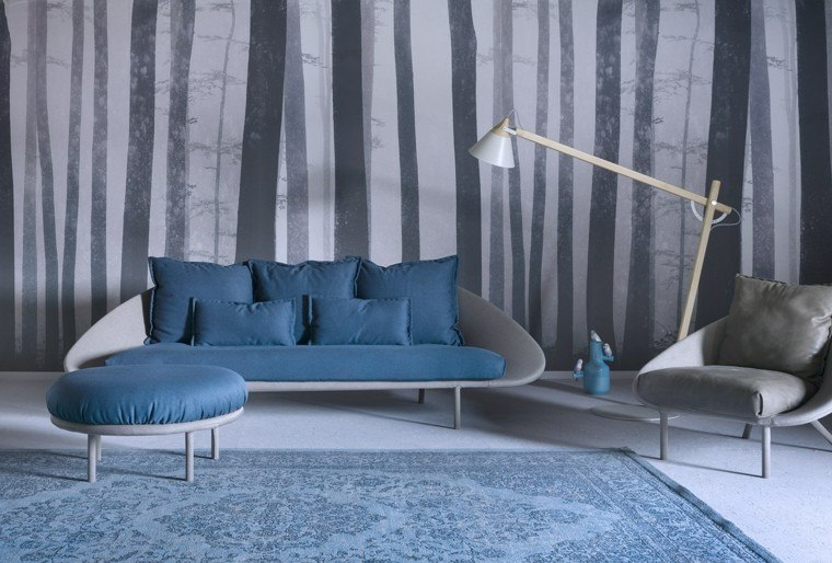 muebles diseño sofa taburete salon moderno ideas