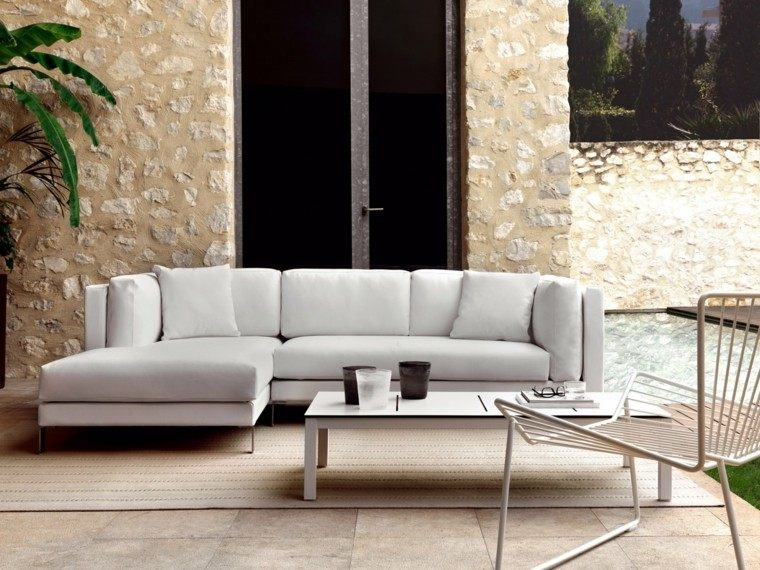 Canapés, sofás y sillones: 50 ideas para exteriores modernos -