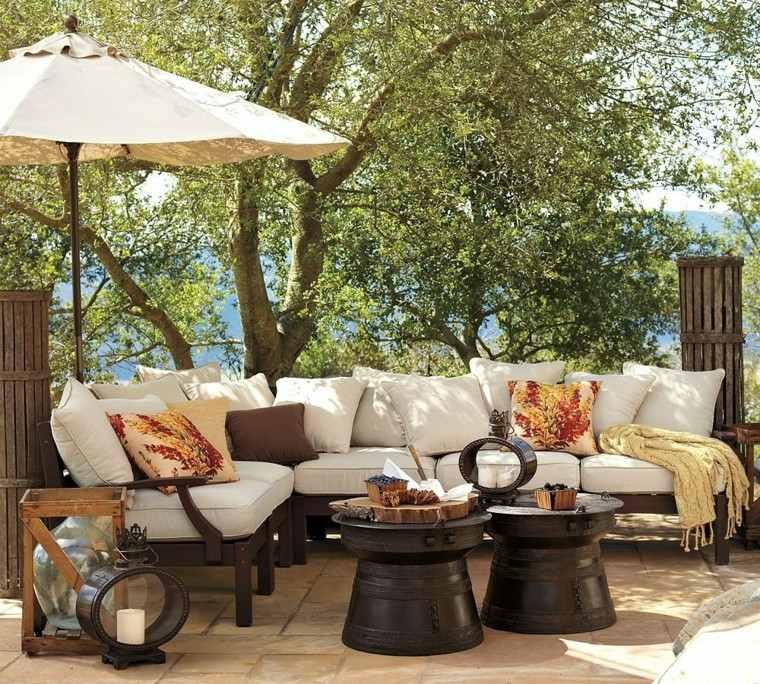 muebles jardin comodos decoración mesa madera ideas