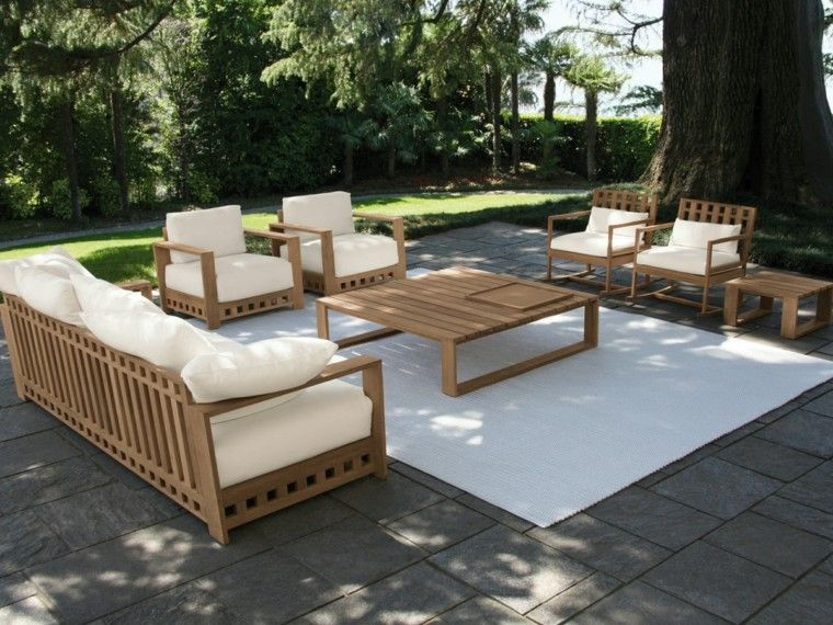 Canap s sof s y sillones 50 ideas para exteriores modernos for Cojines tumbonas jardin