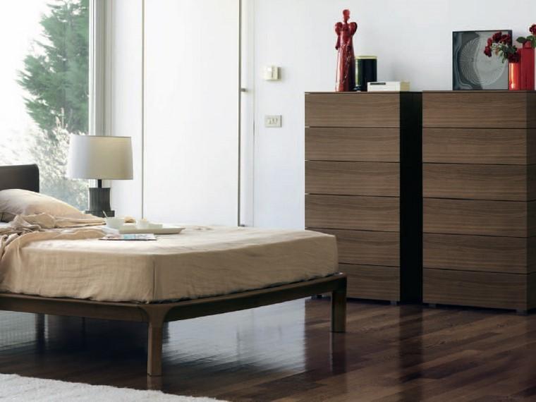 muebles madera figuras decorativas dormitorio ideas