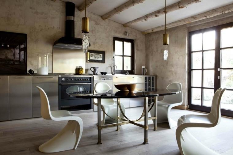 muebles metal cocina estilo urbano amplia ideas