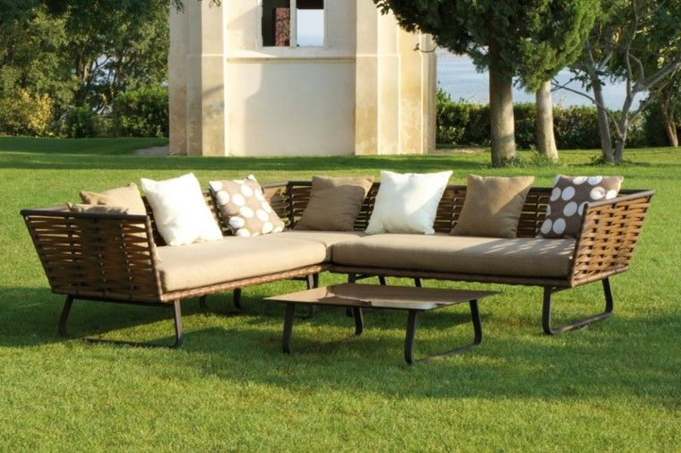 muebles rattan diseo moderno jardin with jardines diseo moderno