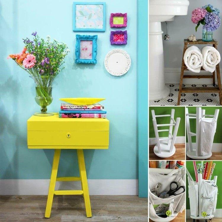 Decoracion de casas modernas 50 ideas creativas for Muebles de mimbre pintados
