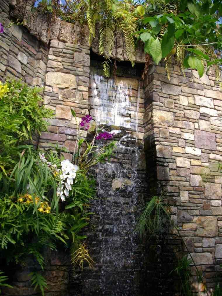 Cataratas y cascadas en el jard n 75 ideas for Cascadas de piedra