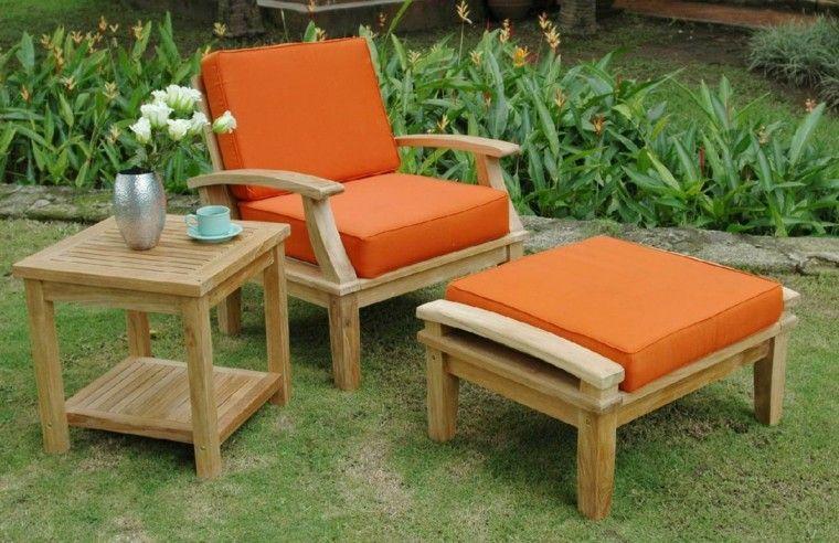 naranja madera metal flores complemento