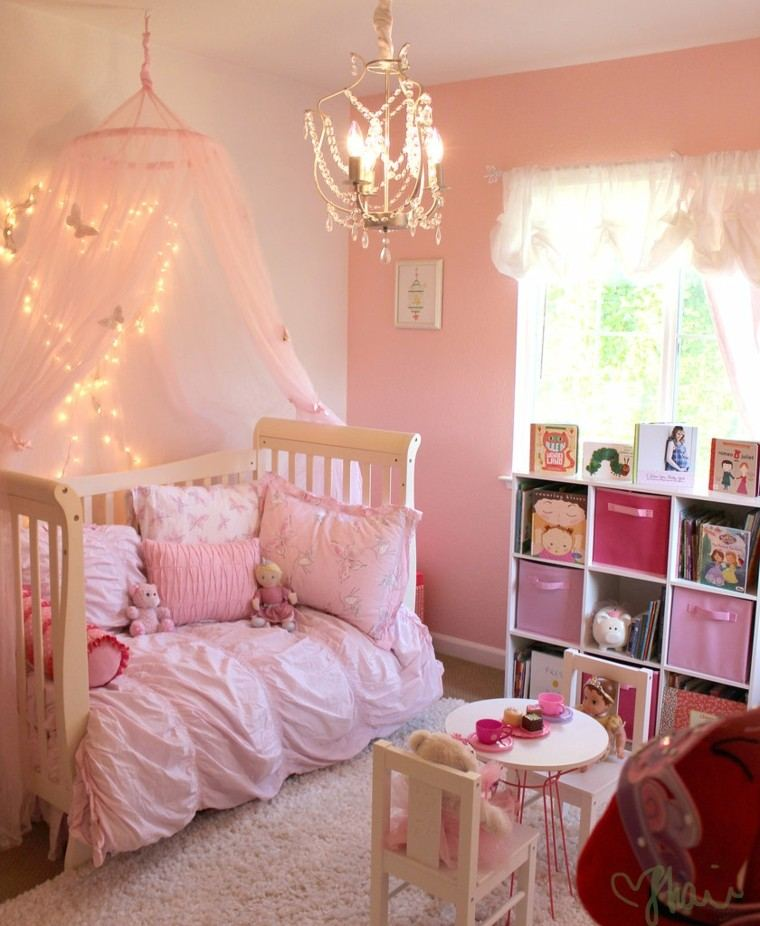 Para ni as caprichosas 25 ideas de habitaciones preciosas - Dosel cama nina ...