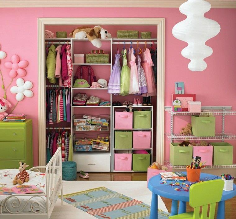niña habitacion armario cama acero blanco ideas