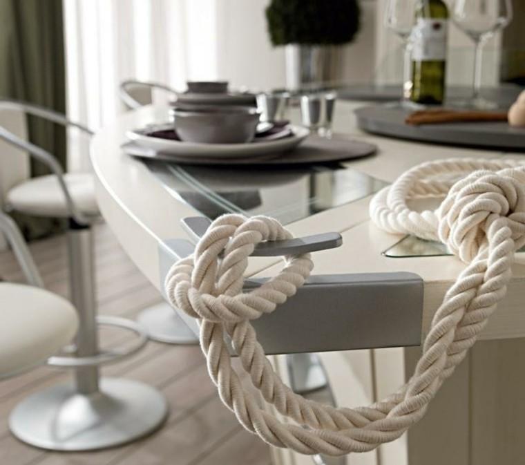 nudo marinero cocina cuerda isla ideas