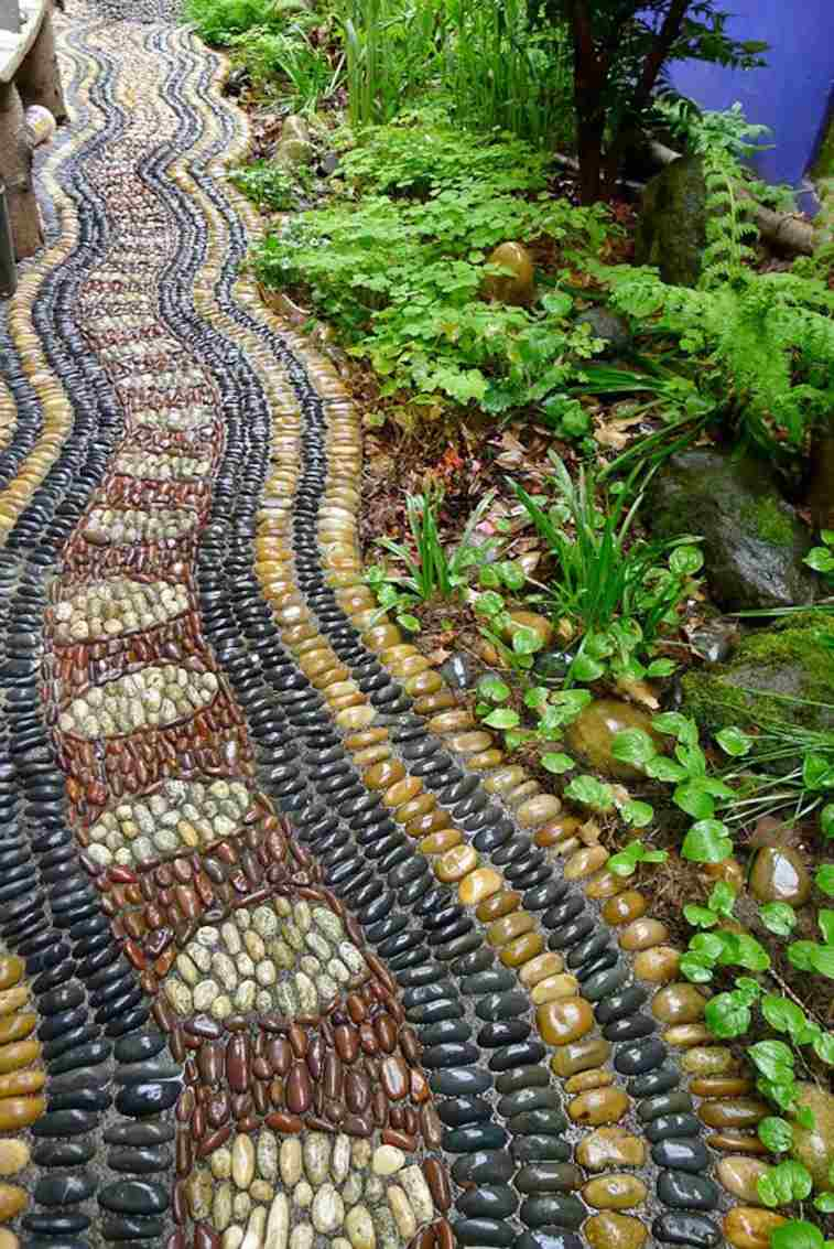 original diseño camino piedras