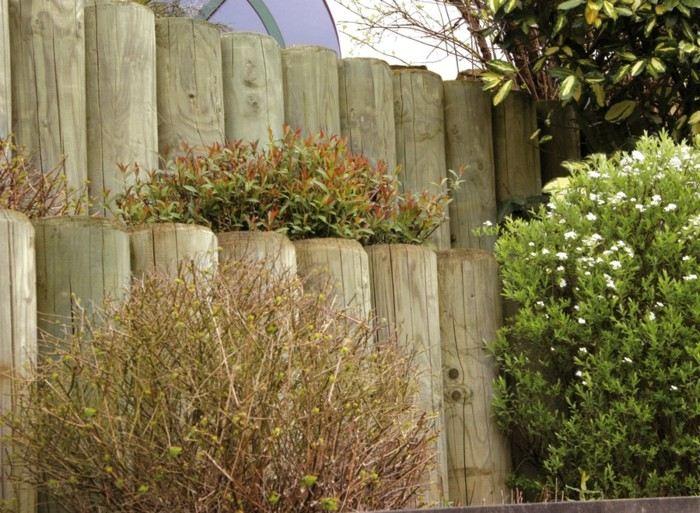 original empalizado valla plantas jardinera