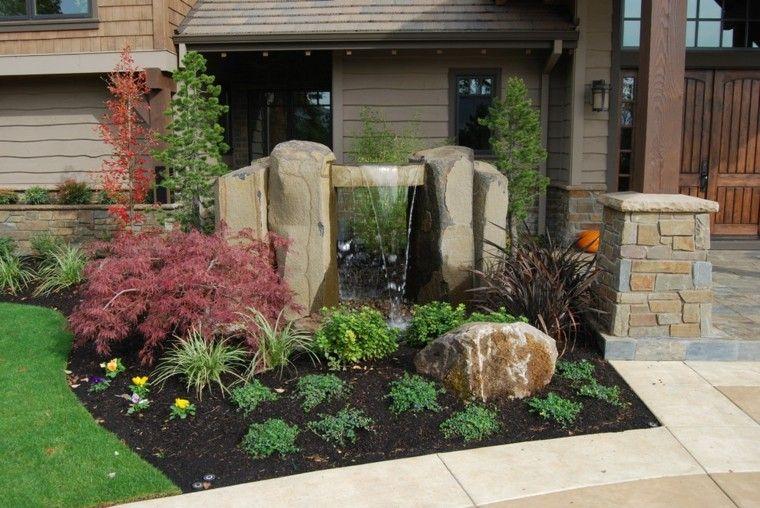original rocalla jardin fuente cascada