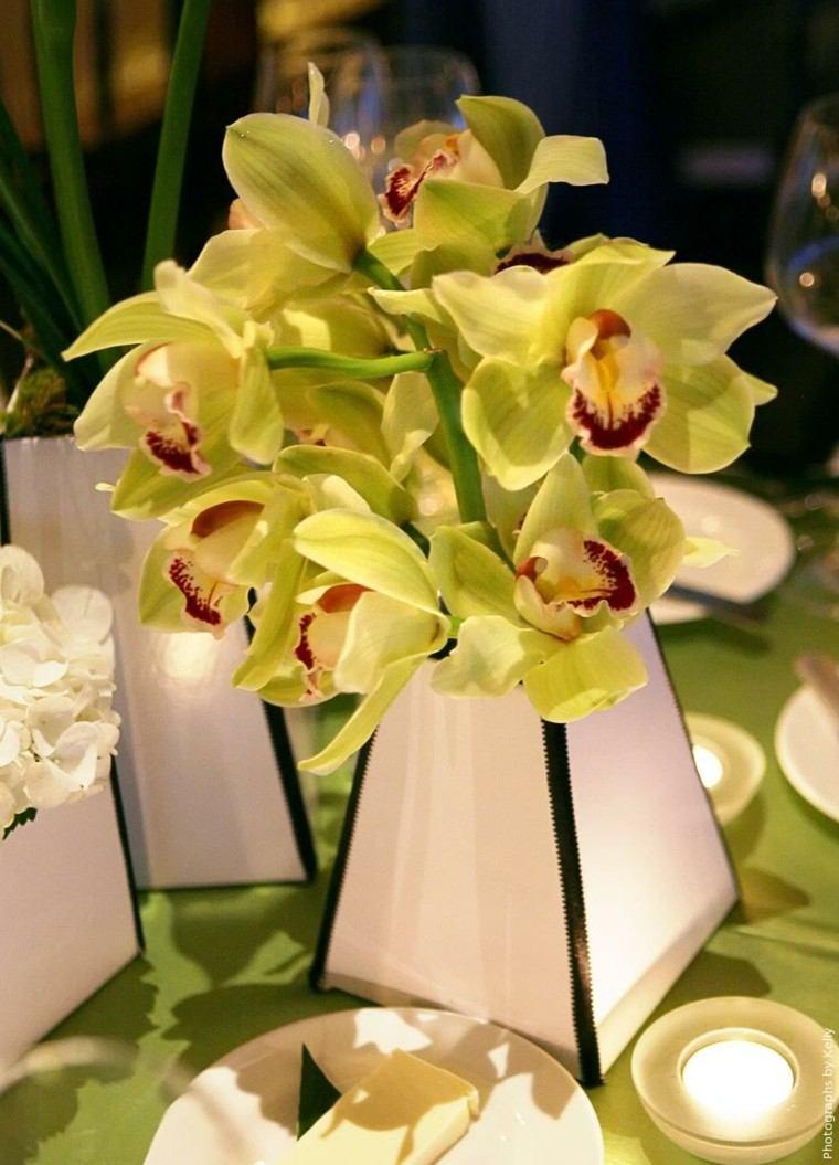 orquideas diy centro mesa iluminado