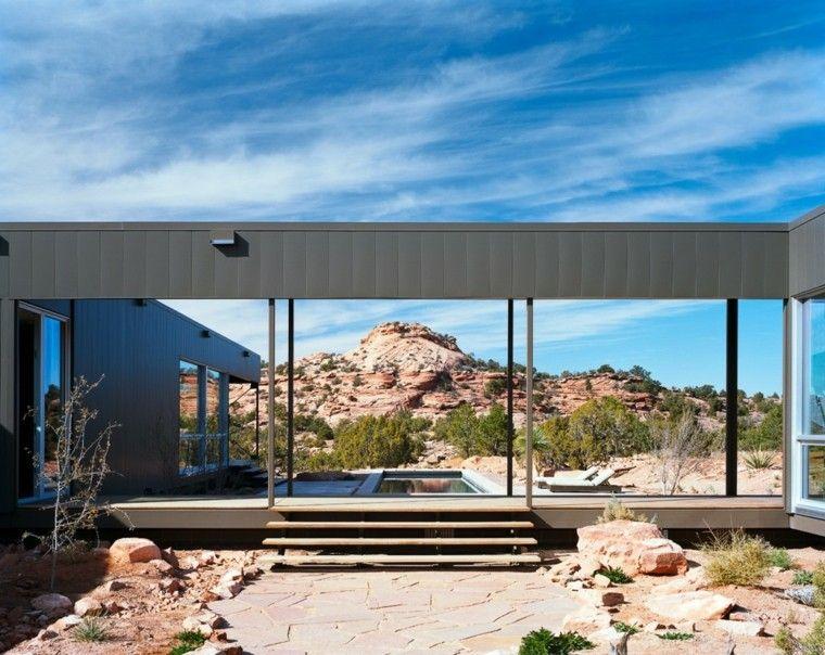 paisaje arido diseño moderno jardin