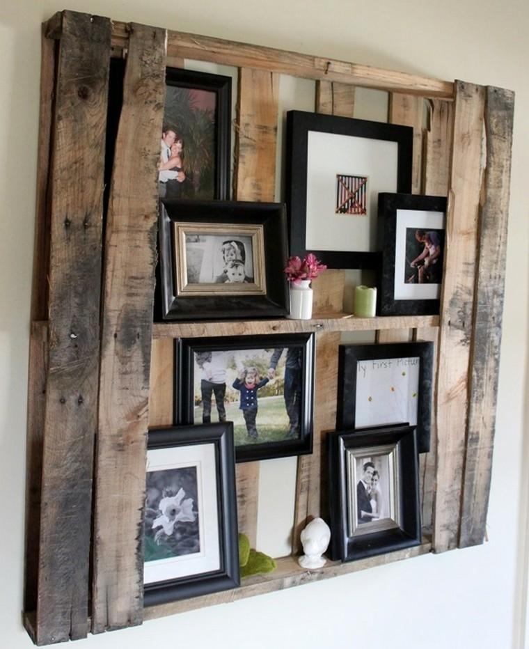palet madera estante decorativo cuadros