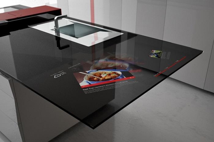 pantalla digital encimera cocina samsung