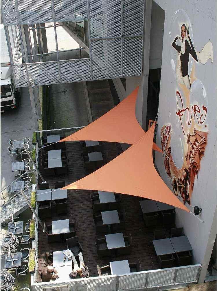 parasoles delta vela color naranja