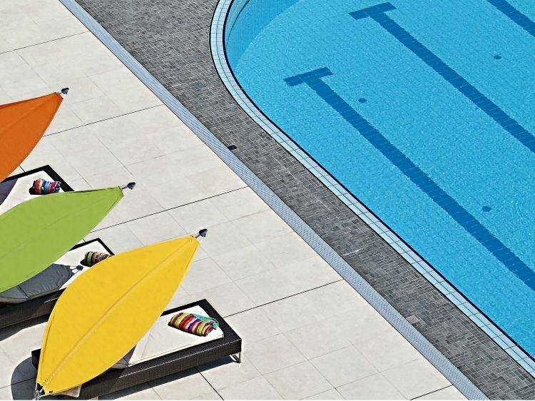 parasoles individuales colores forma hoja