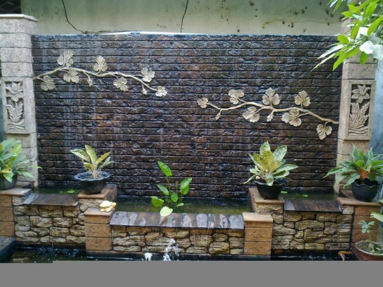 wall wall waterfall waterfall bricks