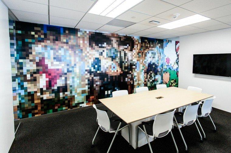 pared oficina original diseno interiores ideas