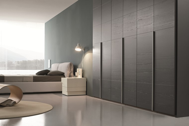 paredes armario grande negro dormitorio ideas
