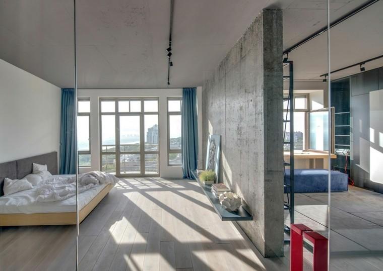 paredes diseño camas ventanas cristal