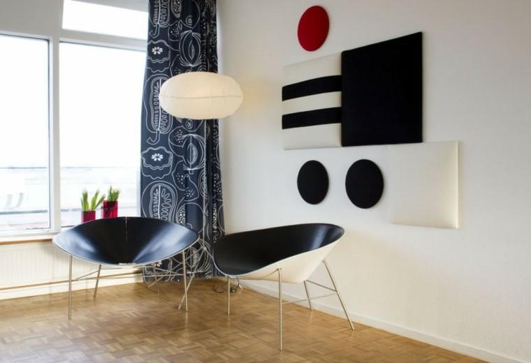 paredes diseño cortinas colores blanco