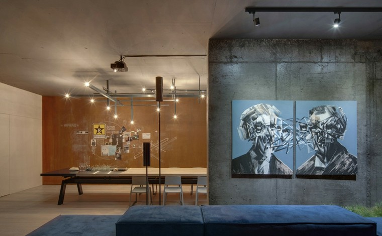 paredes diseño cuadro focal futurista