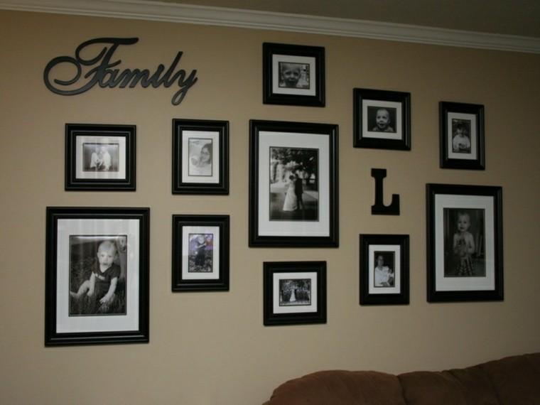paredes diseño cuadros letras imagenes