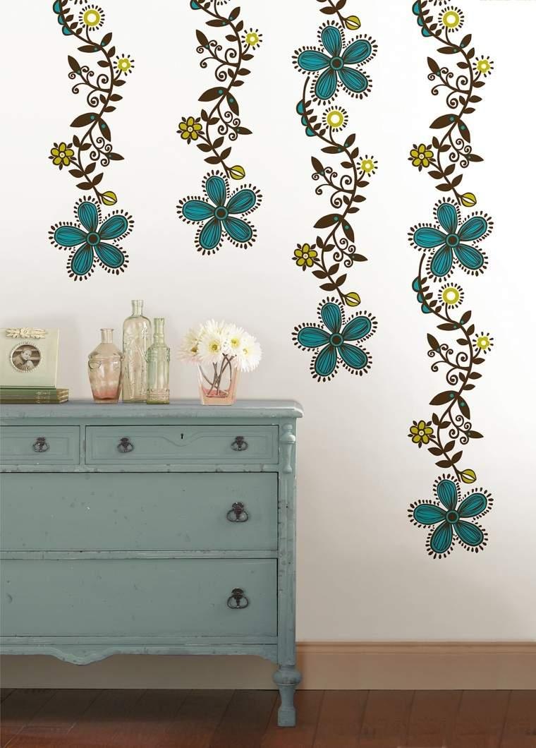 paredes diseño flores diy mueble