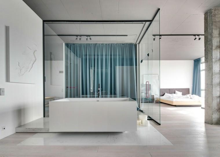 paredes diseño hormigon columnas cristal