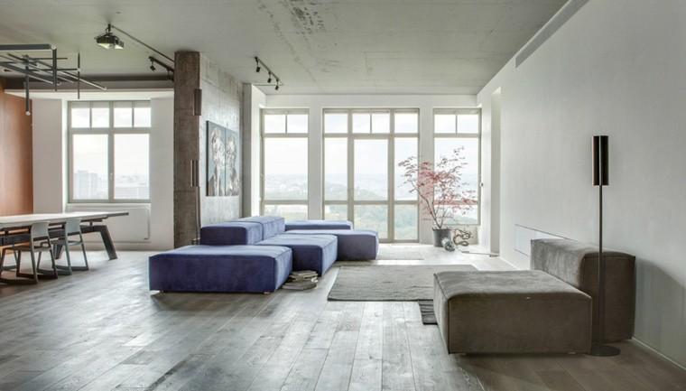 paredes diseño plantas muebles macetas