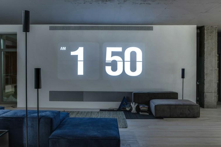 paredes diseño reloj proyector horario